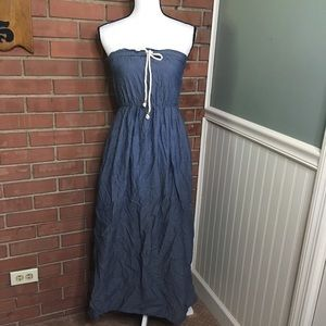 Gap xs denim maxi dress